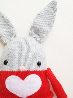 Bunny Knitting Pattern  Toy Easter Bunny Softie by GandGPatterns, $5.00