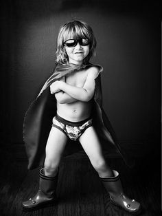 Black & White Photography Inspiration : Cause super heroes are the COOLEST!