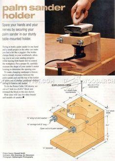 Palm Sander Holder - Sanding Tips, Jigs and Techniques | WoodArchivist.com