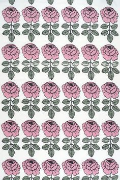 Maalaisruusu blue interior fabric by Marimekko Marimekko Wallpaper, Marimekko Fabric, Textures Patterns, Fabric Patterns, Print Patterns, Textile Prints, Floral Prints, Textiles, Fabric Design