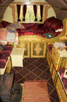 gypsy caravan interior pictures | review: Wriggles Brook Gypsy Caravan, Hoarwithy | Travel | The ...