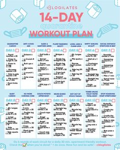 14-Day Quarantine Workout Plan – Blogilates