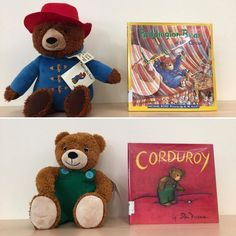 A couple of our favorite children's literature bears hanging out with their famous books at our South Whittier #Library!