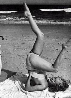 Even Marilyn enjoyed a little yoga .