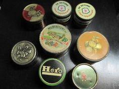8 oude blikken van appelstroop...... o.a. van de betuwe / de gruyter / hero / canisius.