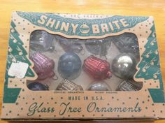 Shiny Brite American Made Miniature Ornaments Katz & Besthoff New Orleans Vintage~~