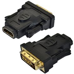 DVI-D 24+1 pin male plug to HDMI female Video Converter Adapter for HDTV DVD PC Generic http://www.amazon.com/dp/B00MVMAFR8/ref=cm_sw_r_pi_dp_pj0oub0983H3G
