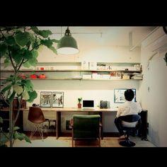 baumkuchenさんの、カリモク60,植物,観葉植物,Mac,イームズ,カリモク,リノベーション,机,のお部屋写真