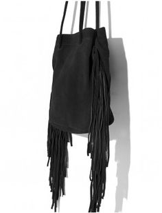Suede Fringe Bucket Bag #fashion #pixiemarket