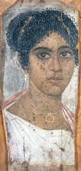 Portrait of a young woman Ancient Rome, Ancient History, Art History, Egyptian Mummies, Egyptian Art, Ancient Greek Clothing, Roman Hair, Statues, Ancient Artifacts