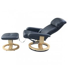 Buy Recliner Massage Chair with Ottoman Black |Homcom