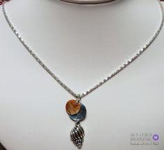 #N149 - NoheaCreations Seashells on the Beach Pendant Necklace. Mussel Shells