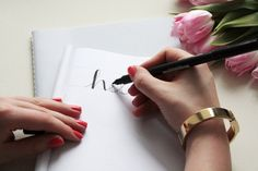 Handlettering Tipps: Faux Calligraphy Lernen