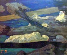"""kundst: """" Tom Thomson (Can. 1877-1917) Clouds (1915) """""""