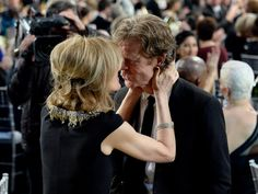 Pin for Later: 25 Amazing Moments You Missed If You Skipped the SAG Awards Felicity Huffman and William H. Macy single-handedly proved love is not dead.