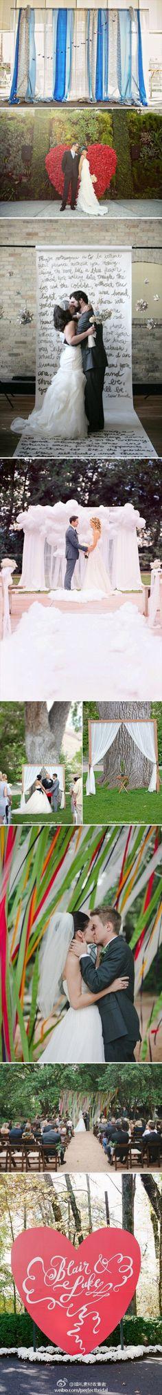 Amazing alternative ceremony backdrops. Do something unique!
