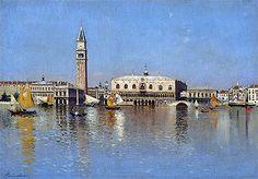 Title: The Grand Canal, Venice, undated  Artist: Rubens Santoro  Medium: Canvas Art Print - Giclee