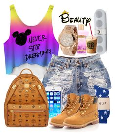 """""""UNTITLED #131"""" by favdimples ❤ liked on Polyvore featuring HUF, Timberland, MCM and Marc by Marc Jacobs"""