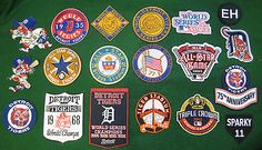 Detroit Tigers Patch Collection--19 Patches--world Series, All Star Games Etc.