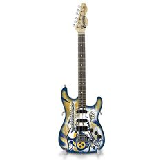 Nashville Predators NorthEnder Collector Series Mini Replica Electric Guitar, Multicolor