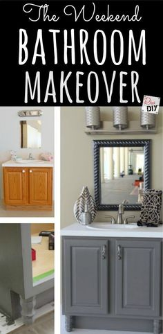 Create the bathroom remodel of your dreams with an inexpensive bathroom makeover! Easily completed in a weekend with these 4 DIY bathroom ideas on a budget! http://divaofdiy.com/upcycled-bathroom-ideas/