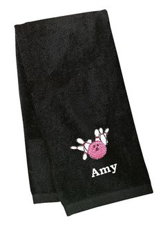Personalized Bowling Towel Custom Name Initials by cre8ivgifts