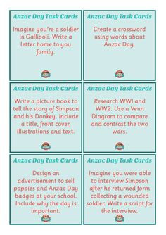 Anzac Day: Bundle of displays, activities and worksheets for Reading and Writing