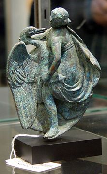 Leda and the Swan, bronze, Roman Imperial, circa 1st Century A.D.
