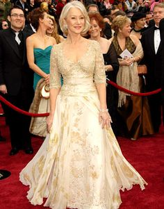 Helen Mirren for the Mother of the Bride dress