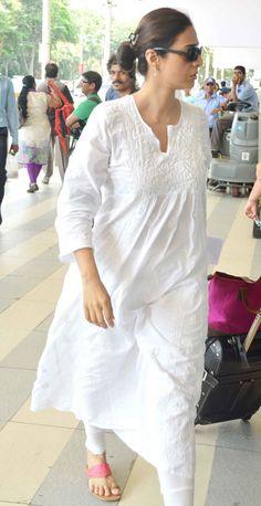 Tabu seen at the Mumbai airport. #Bollywood #Fashion #Style #Beauty