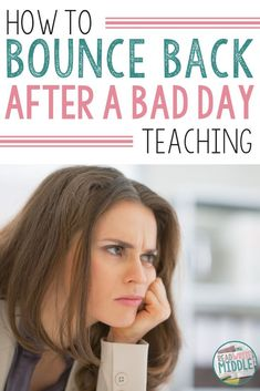 Every teacher has had a day where everything went wrong and you felt like you had no control over your class at all. You're not alone! We all have bad teaching days, but we can learn from our mistakes on those days. This blog post explores actionable things you can do to overcome obstacles in the classroom and to turn around a bad day teaching. Click through to read all of the suggestions! #teachertips #teachingtips #classroommanagement #elementaryschool #middleschool #highschool Bad Teacher, Teacher Blogs, New Teachers, Teacher Hacks, Teacher Stuff, Teacher Resources, English Teachers, Autism Resources, English Classroom