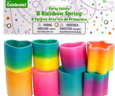 rainbow springs party favors Case of 24