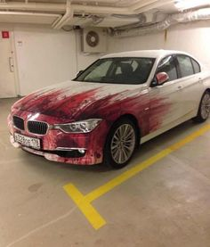 Parking Fails & More!: Pedestrians will avoid your car with this paint job!