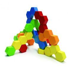 HexActly Building Toy #primarycolors #hexagon #toy #blocks #buildingblocks