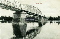 Hedmark fylke Sør-Odal kommune Sander bro over Glomma. Nærbilde Utg N.J, postgått 1906