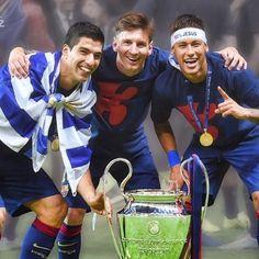 Sem mais ...... Leo Messi e @LuisSuarez9 !!