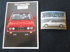 1988 BMW 325i Convertible Brochure E30 3 Series 325 i Conv't US Sales Catalog | Collectibles, Advertising, Automobiles | eBay!