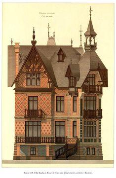 Details of Victorian Architecture. (POST 4) - Villa Brodu at Beuzeval (Calvados departement); architecy: Baumier