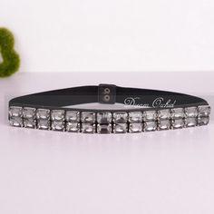 Dreamlan 2016 Cummerbunds Women 4 Seasons Square Crystal Beaded Belts Crystal Black Bow  Beaded Sash Belt for Women Belts DF376
