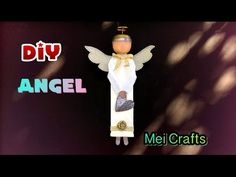 Diy: Angel made from waste toothpaste tube... recycled materials - YouTube