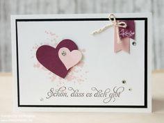 Grusskarte Stampin Up Valentin Card Karte Love Greeting Card 012 (Diy Paper Banner)