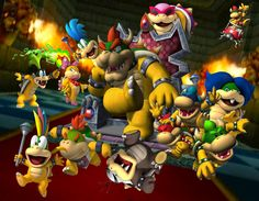 Hieratic scaling show the biggest baddest asset as being the biggest aspect. King Bowser was bigger in size then that of his subjects.