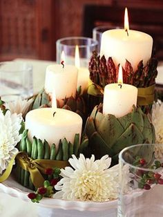 Thanksgiving Table Ideas - Candles