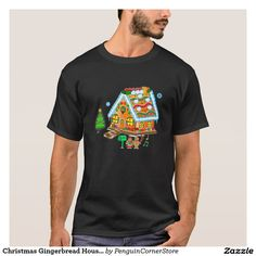 Christmas Gingerbread House: Mom, Dad and Baby T-Shirt
