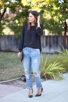 The Best Boyfriend Jeans | Natalie Dressed