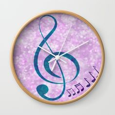 Music Love Wall Clock by quotelifeshop Wall Clock Frame, White Frames, Unique Wall Clocks, Love Wall, Music Love, Natural Wood, Life Quotes, Hands, Deep