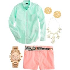 """""""gotta have pastels"""" by the-southern-prep on Polyvore"""