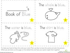 Worksheets: The Color Blue. This website will be a great resource during the summer!