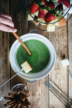 Matcha White Chocolate Fondue from my name is yeh