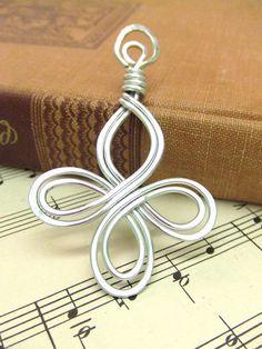 Celtic Pendant Filigree Pendant with Cord Aluminum Pendant Wire Wrap Pendant Hammered Metal Pendant Jewelry Gifts Under 20 Artisan Handmade via Etsy